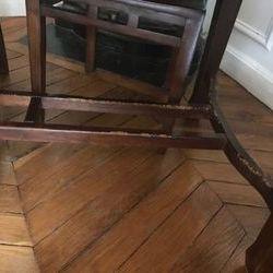 Table en teck rectangulaire avec chaises