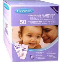 Donne boite de 50 sachets de conservation de lait maternel LANSINOH