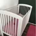 Ameublement sur Labège : Donne lit bébé bois blanc