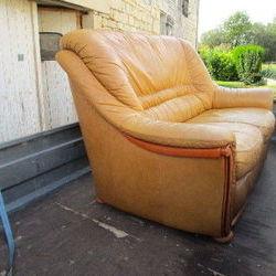 Donne canapé 2 places cuir